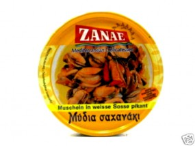 Zanae weiße Muscheln in Sauce pikant 160 g