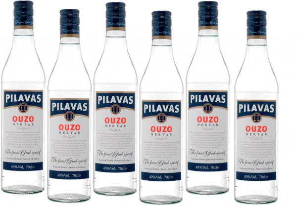 Ouzo Pilavas 6 x 700 ml Vol. 38 %