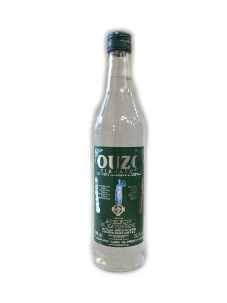 Katsaros Ouzo Tirnavou Green 700 ml 37,5%-Vol.