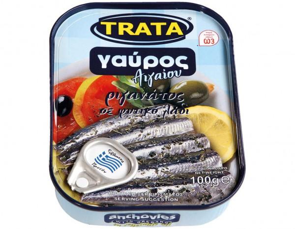 Sardellen mit Öl und Oregano Trata 100g